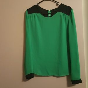 Two-tone color blouse